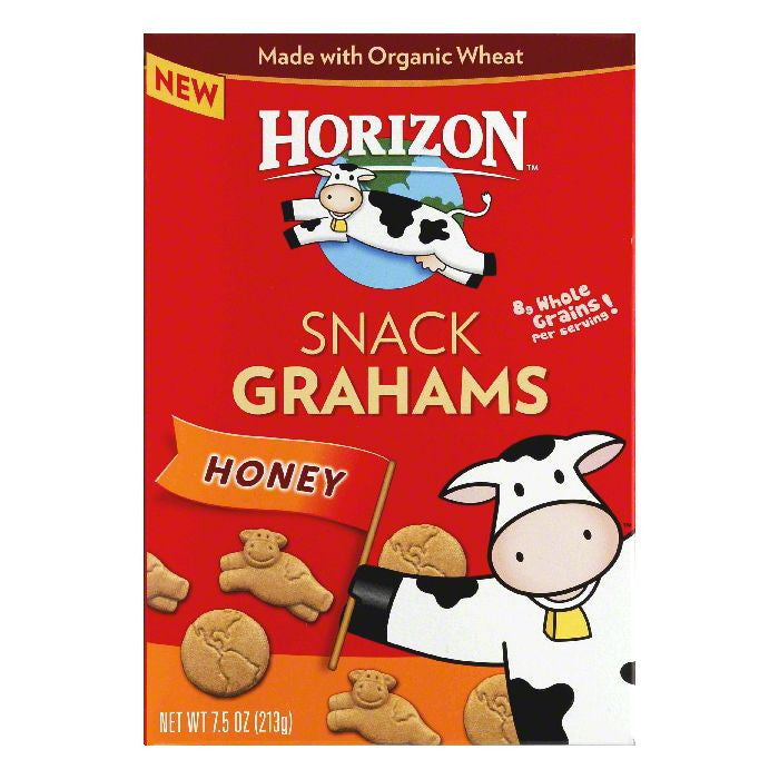 Horizon Honey Snack Grahams, 7.5 Oz (Pack of 12)