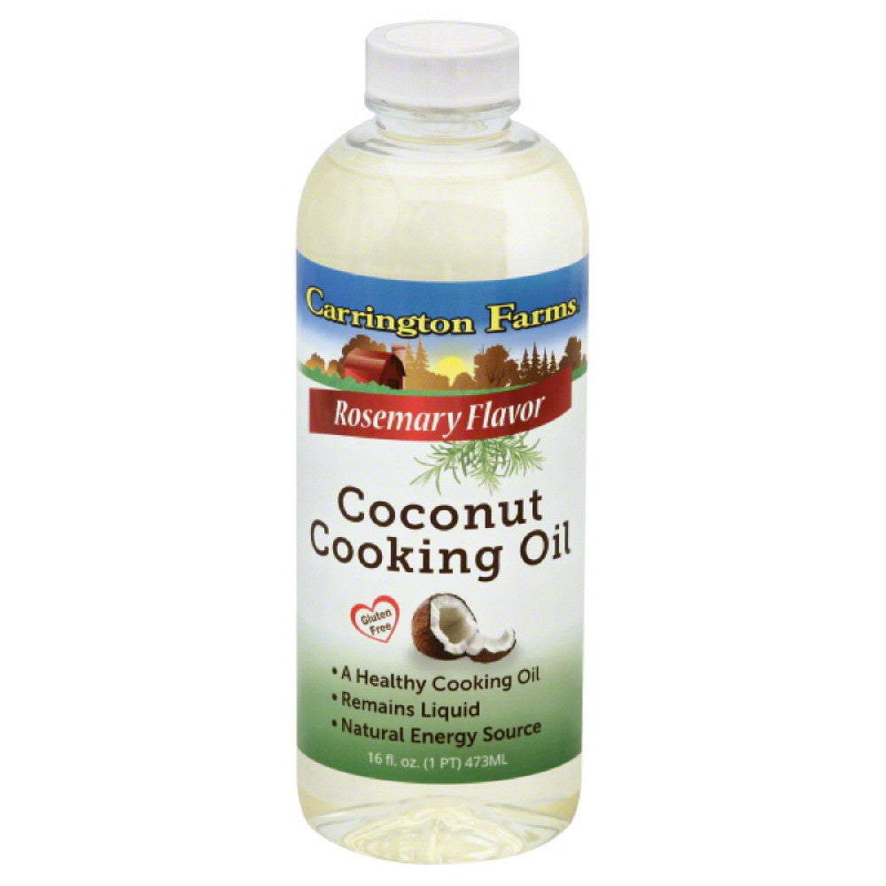 Carrington Farms Rosemary Flavor Coconut Cooking Oil, 16 Oz (Pack of 6)