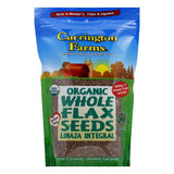 Carrington Farms Whole Pouch Flax seed, 15 OZ (Pack of 6)