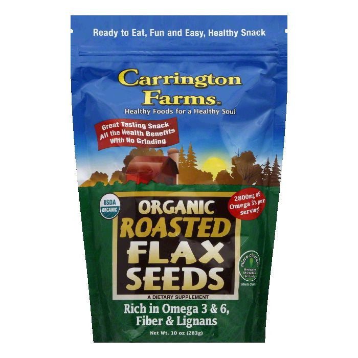 Carrington Farms Original Roasted Flax Seed, 10 OZ (Pack of 6)