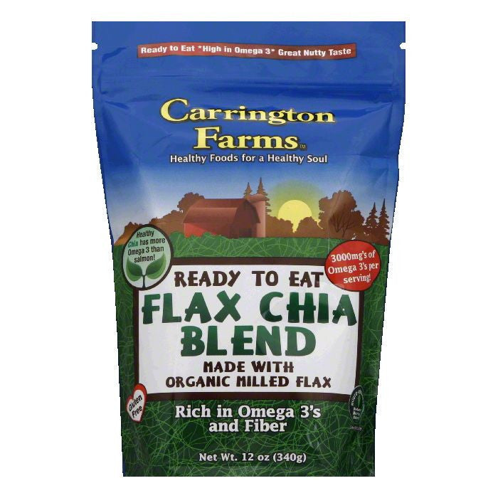 Carrington Farms Chia Blen Flax, 12 OZ (Pack of 6)