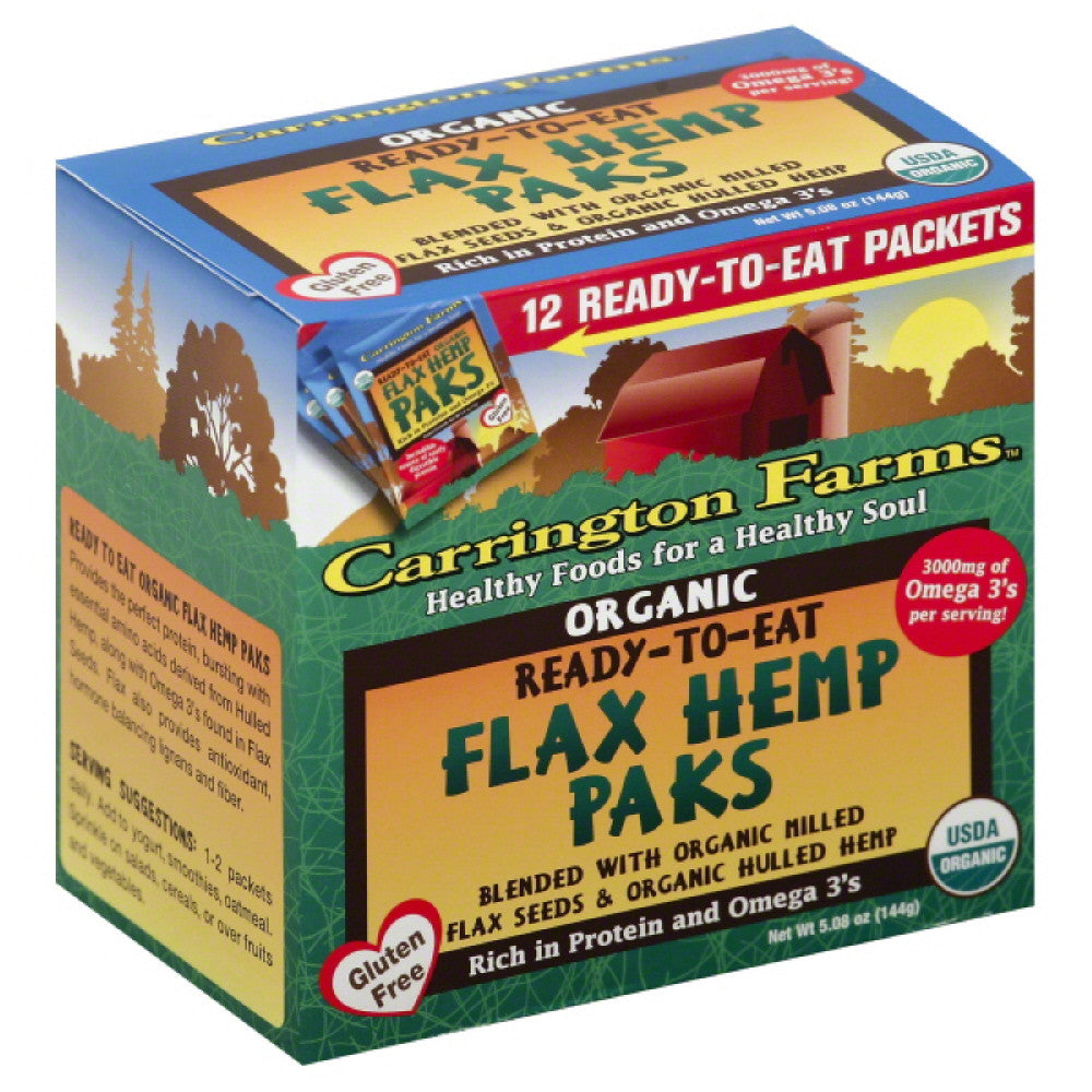 Carrington Farms Flax Hemp Paks, 5.08 Oz (Pack of 6)