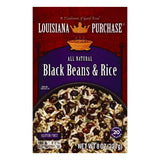 Louisiana Purchase Black Beans & Rice, 8 OZ (Pack of 12)
