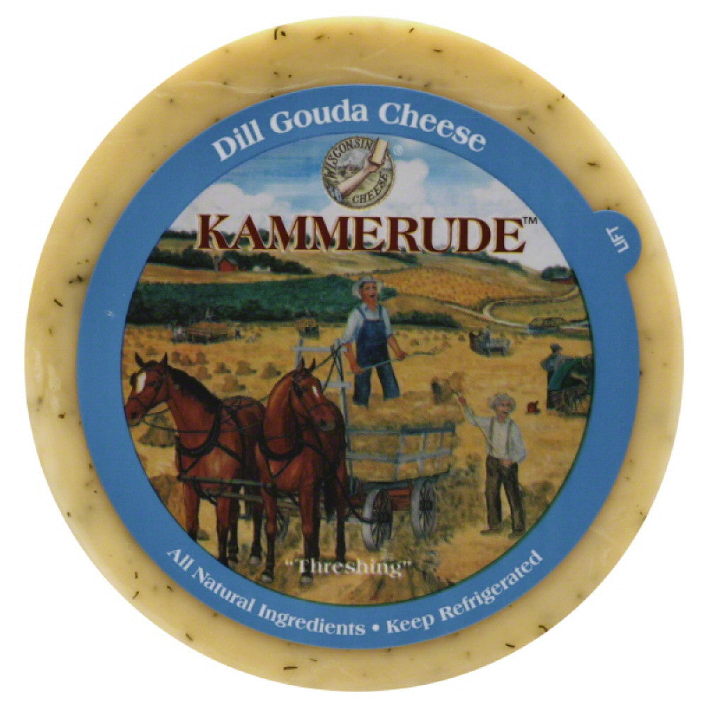 Kammerude Dill Gouda Cheese, 8 Oz (Pack of 10)
