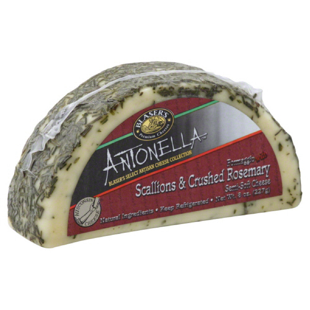 Blasers Formaggio with Scallions & Crushed Rosemary Semi-Soft Cheese, 8 Oz (Pack of 12)