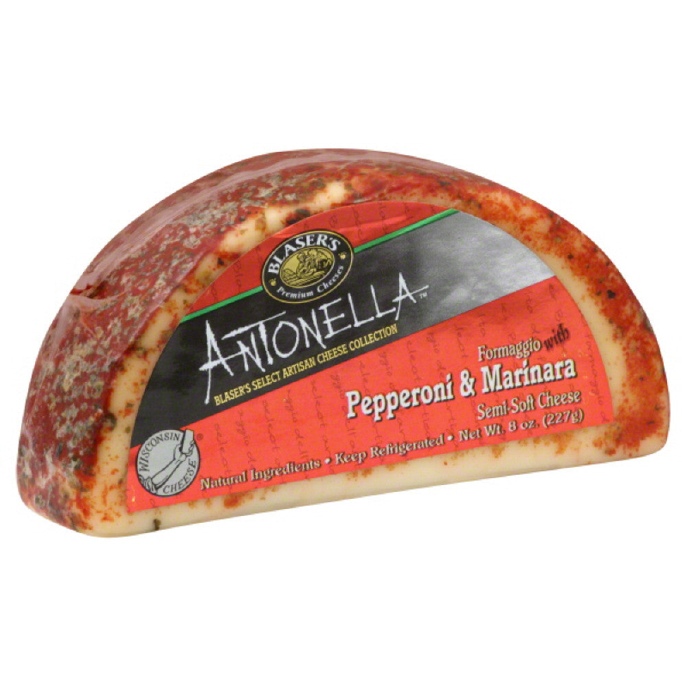 Blasers Formaggio with Pepperoni & Marinara Semi-Soft Cheese, 8 Oz (Pack of 12)