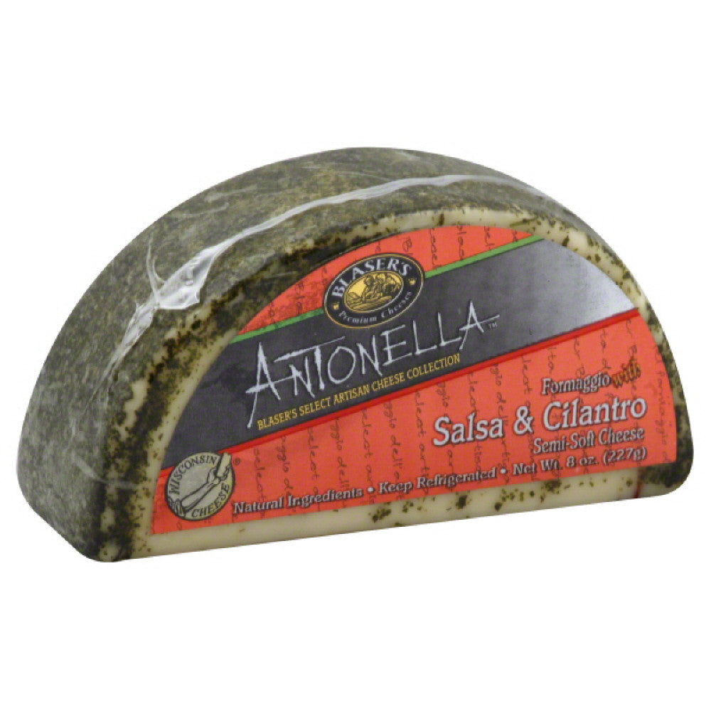 Blasers Formaggio with Salsa & Cilantro Semi-Soft Cheese, 8 Oz (Pack of 12)