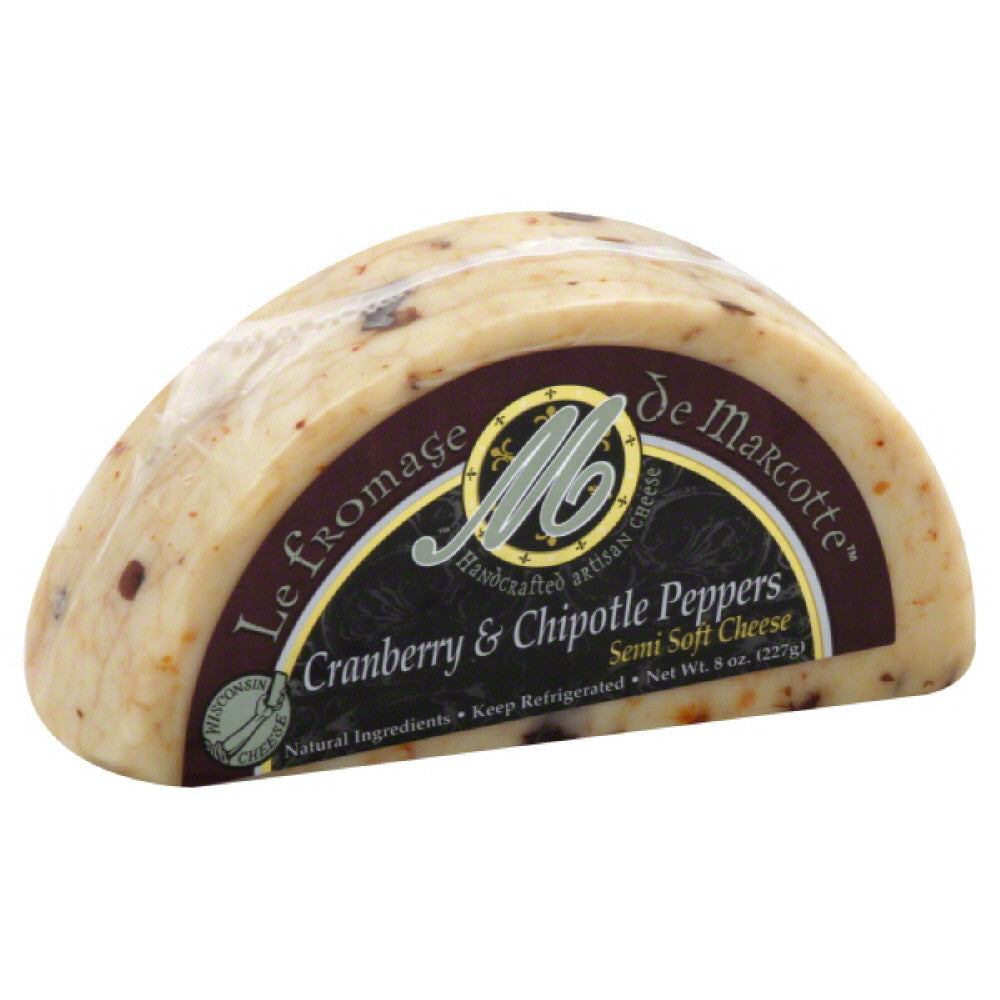 Le Fromage De Marcotte Cranberry & Chipotle Peppers Semi-Soft Cheese, 8 Oz (Pack of 12)
