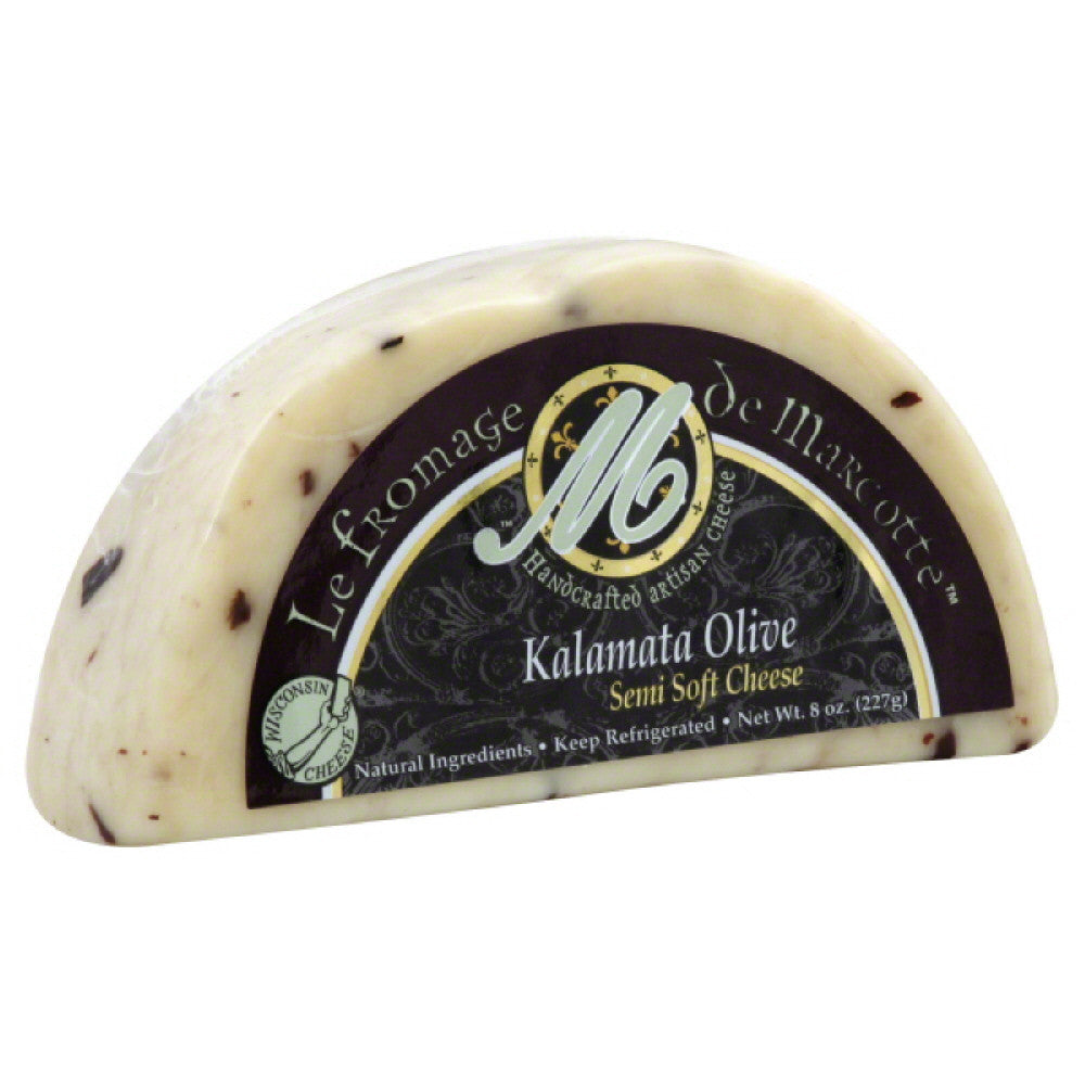 Le Fromage De Marcotte Kalamata Olive Semi-Soft Cheese, 8 Oz (Pack of 12)