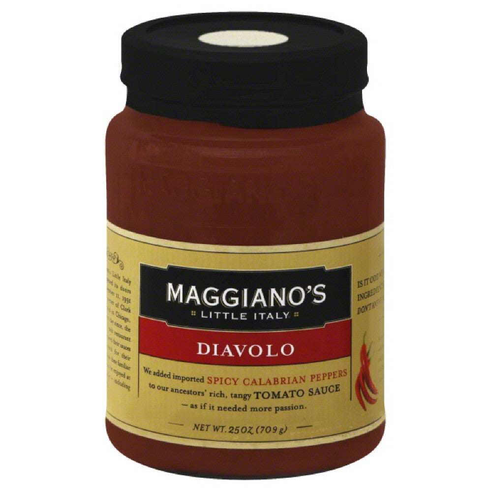 Maggianos Diavolo Sauce, 25 Oz (Pack of 6)