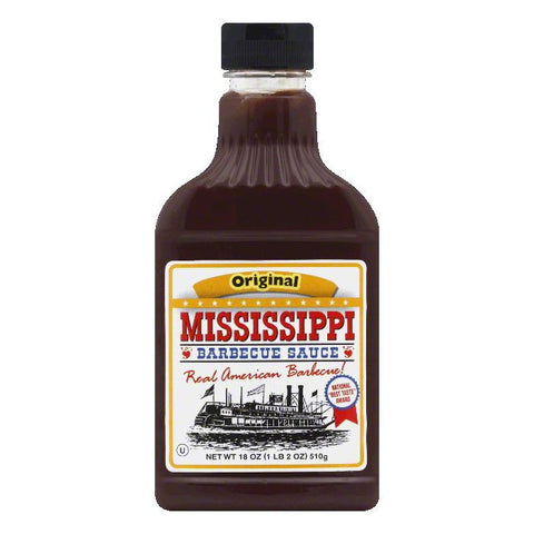 Mississippi BBQ Original BBQ Sauce, 18 OZ (Pack of 6)