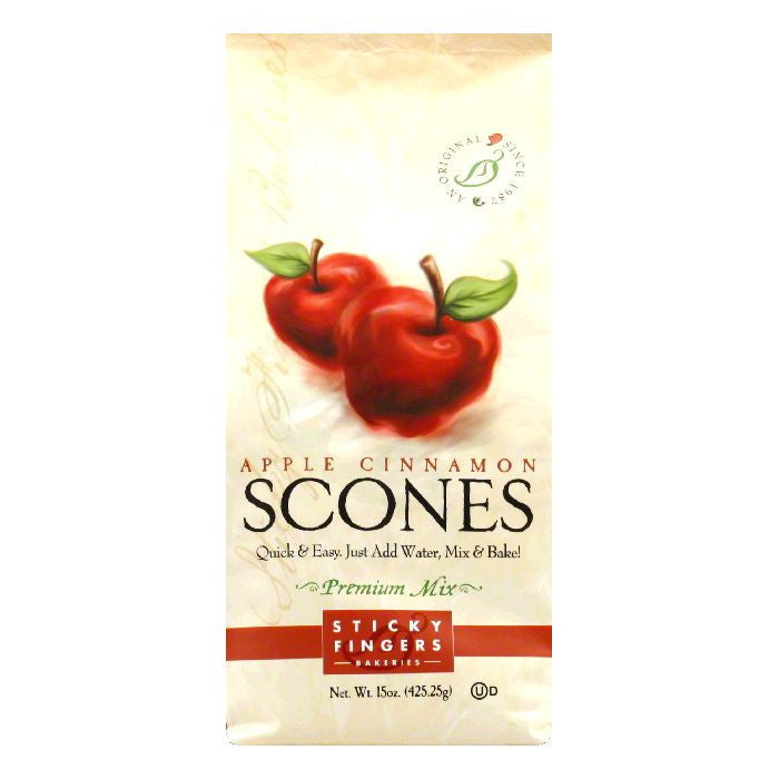 Sticky Fingers Scones Apple Cinnamon, 15 OZ (Pack of 6)