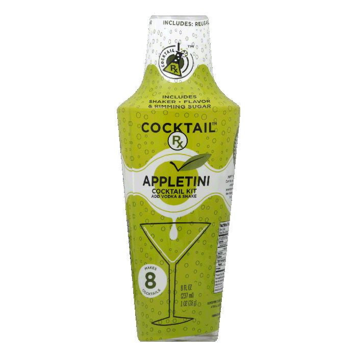 Four Blue Shaker Appletini Rimming Sugar, 9 OZ (Pack of 6)