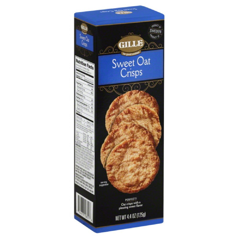 Gille Sweet Oat Crisps, 4.4 Oz (Pack of 8)