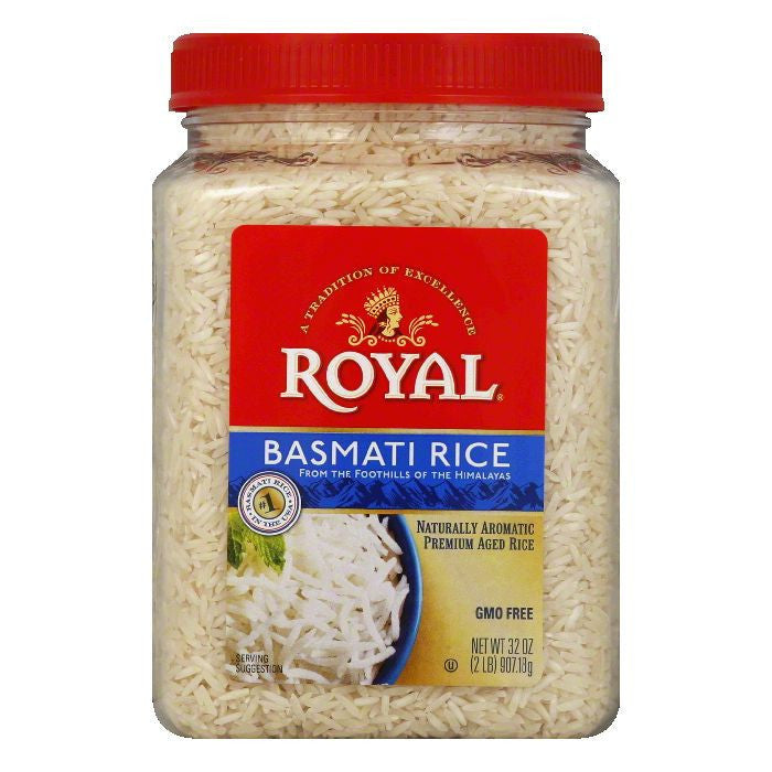 Royal Royal Basmati Rice Poly Stand Up, 2 LB (Pack of 4)