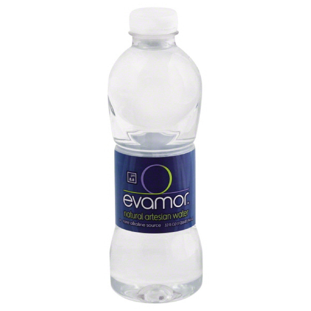 Evamor Natural Artesian Water, 32 Oz (Pack of 12)