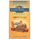 Ghirardelli Chocolate Squares Milk & Caramel Chocolate 5.32 Oz Stand Up Bag (Pack of 12)