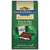 Ghirardelli Chocolate Squares Dark & Mint Chocolate  5.32 Oz Stand Up Bag (Pack of 12)