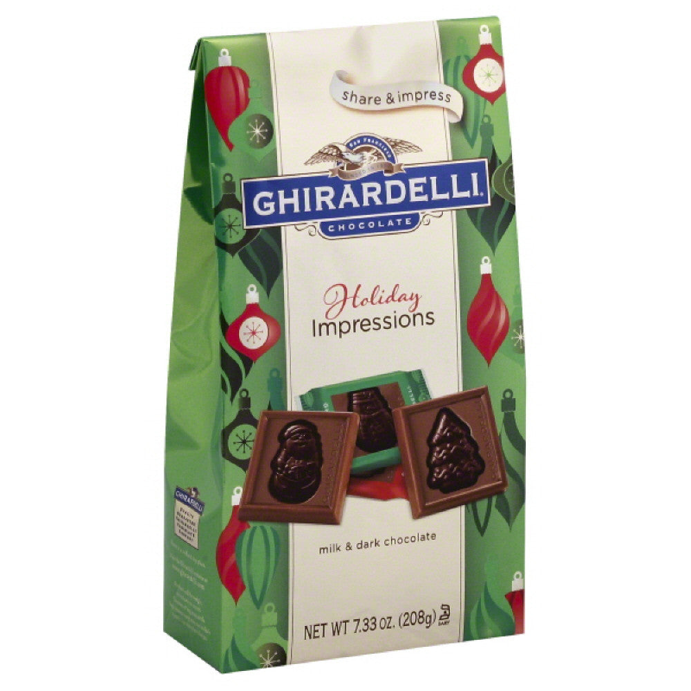 Ghirardelli Holiday Impressions Milk & Dark Chocolate, 7.33 Oz (Pack of 12)