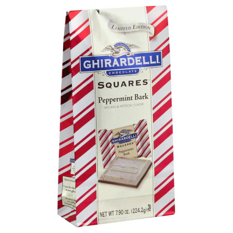 Ghirardelli Peppermint Bark Chocolate Squares, 7.9 Oz (Pack of 12)