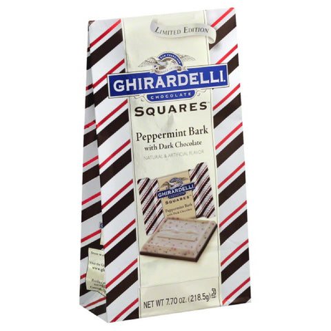Ghirardelli Peppermint Bark with Dark Chocolate Chocolate Squares, 7.7 Oz (Pack of 12)