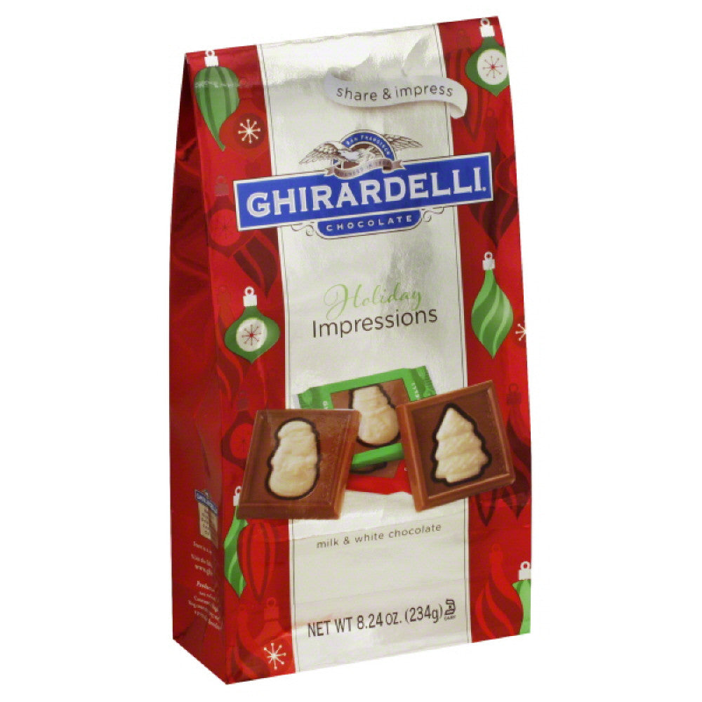 Ghirardelli Milk & White Chocolate, 8.24 Oz (Pack of 12)