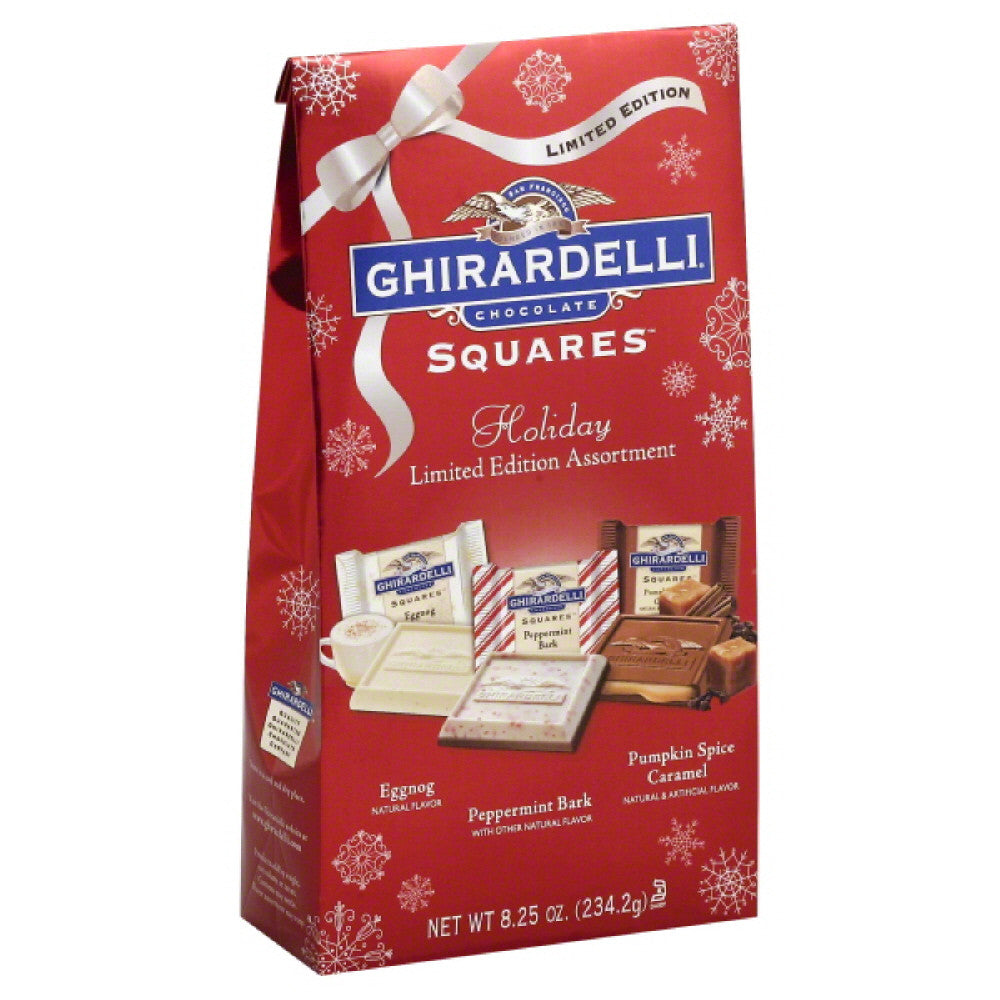 Ghirardelli Holiday Limited Edition Assortment Chocolate Squares, 8.25 Oz (Pack of 12)