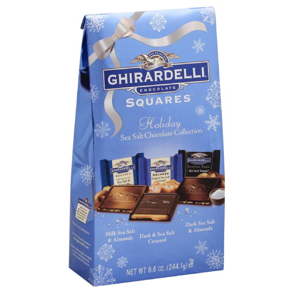 Ghirardelli Holiday Sea Salt Chocolate Collection Chocolate Squares, 8.6 Oz (Pack of 12)
