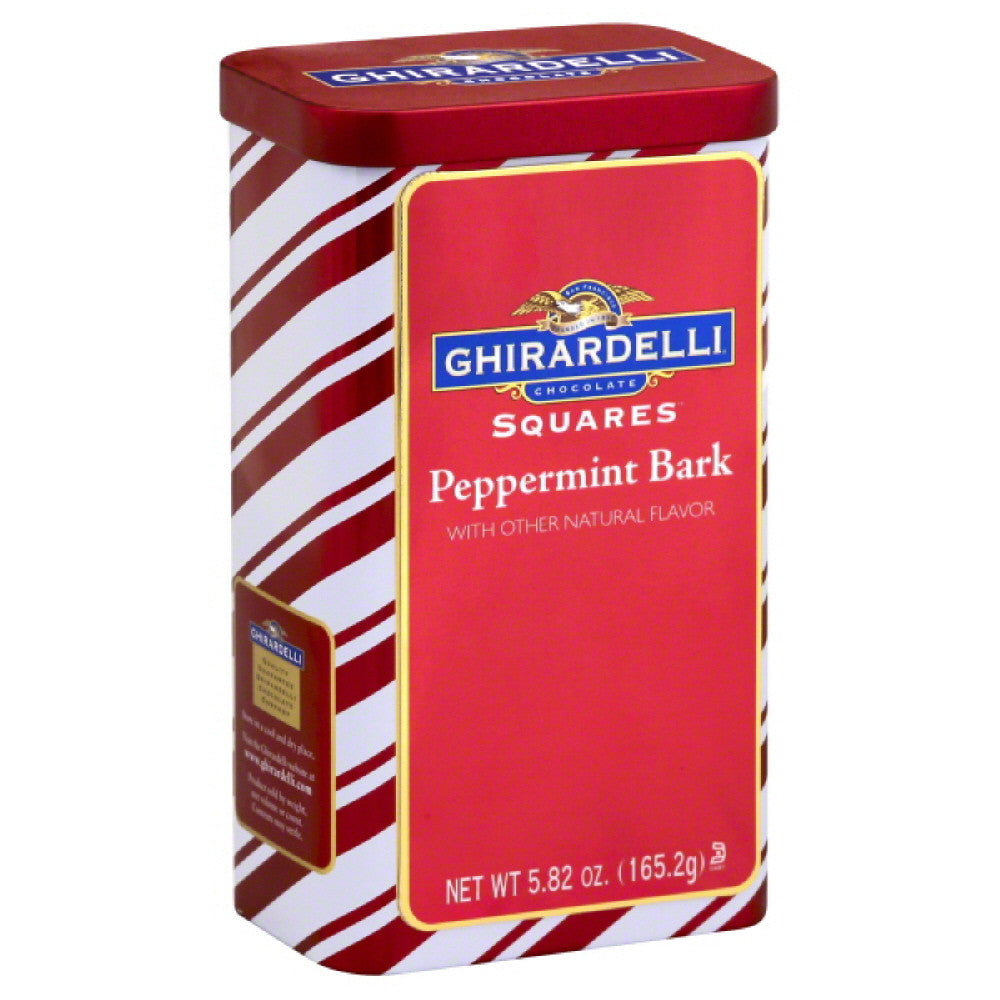 Ghirardelli Peppermint Bark Chocolate Squares, 5.82 Oz (Pack of 12)