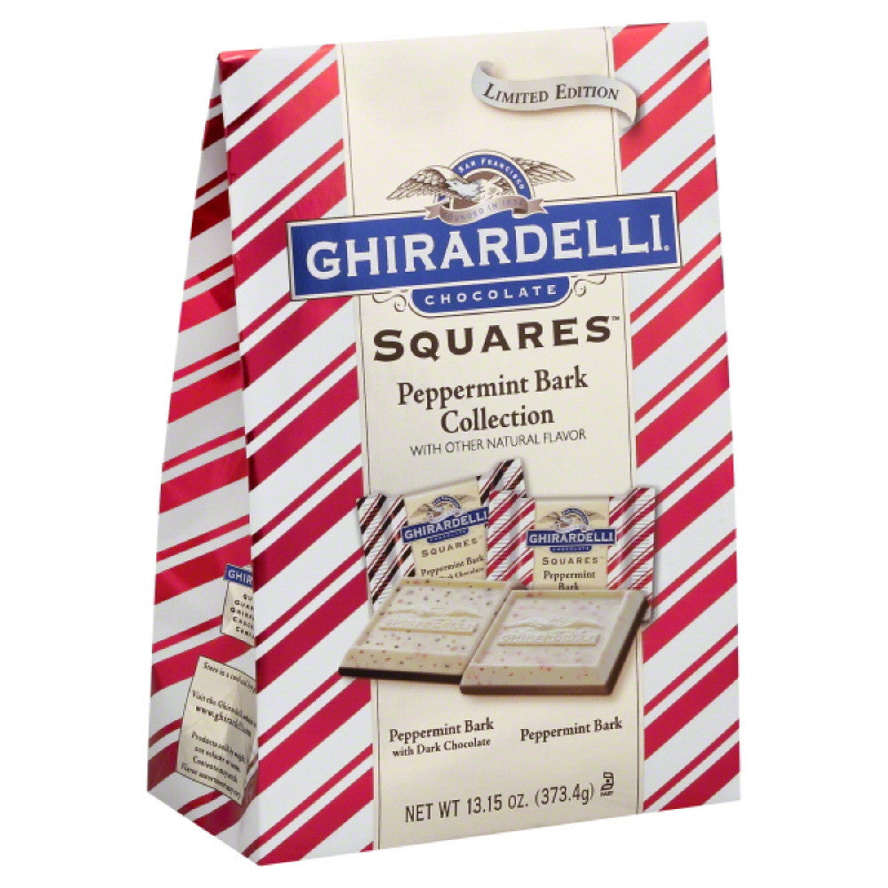 Ghirardelli Peppermint Bark Collection Chocolate Squares, 13.15 Oz (Pack of 6)