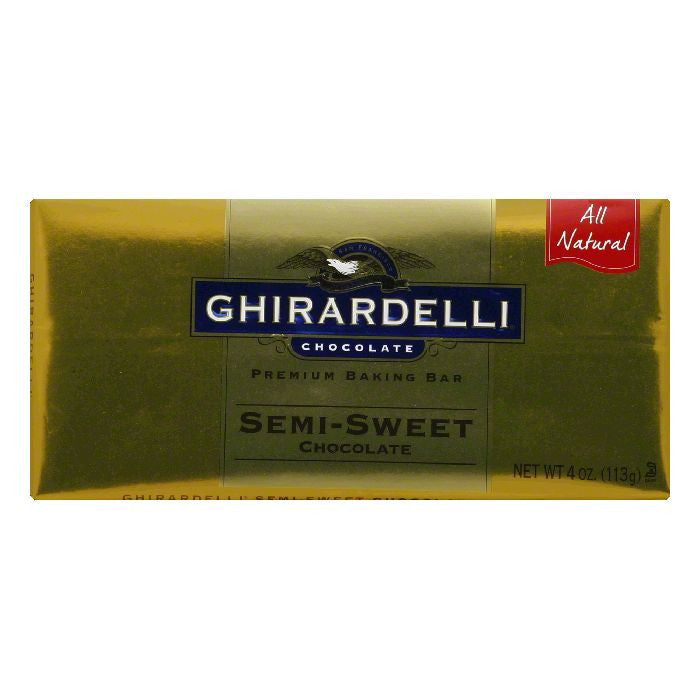 Ghirardelli Baking Bar Semi-Sweet Chocolate, 4 OZ (Pack of 12)