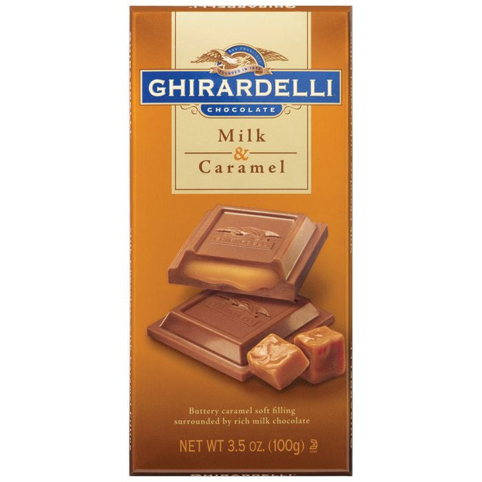 Ghirardelli Chocolate  Milk Chocolate & Caramel 3.5 Oz  (Pack of 12)