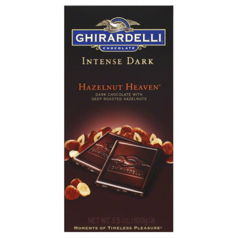 Ghirardelli Hazelnut Heaven Dark Chocolate, 3.5 Oz (Pack of 12)