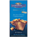 Ghirardelli Gourmet Milk Sea Salt Escape Chocolate 3.5 oz (Pack of 12)