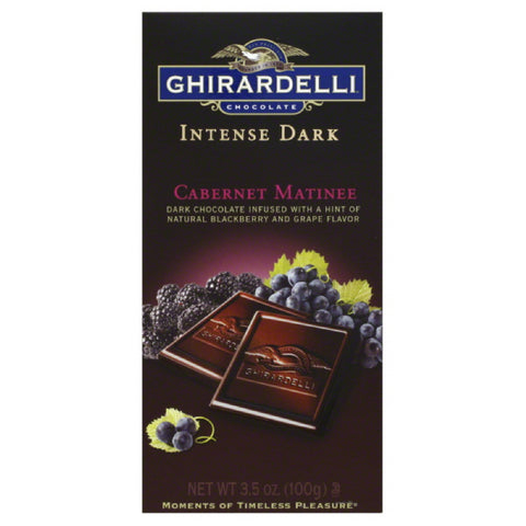 Ghirardelli Cabernet Matinee Dark Chocolate, 3.5 Oz (Pack of 12)