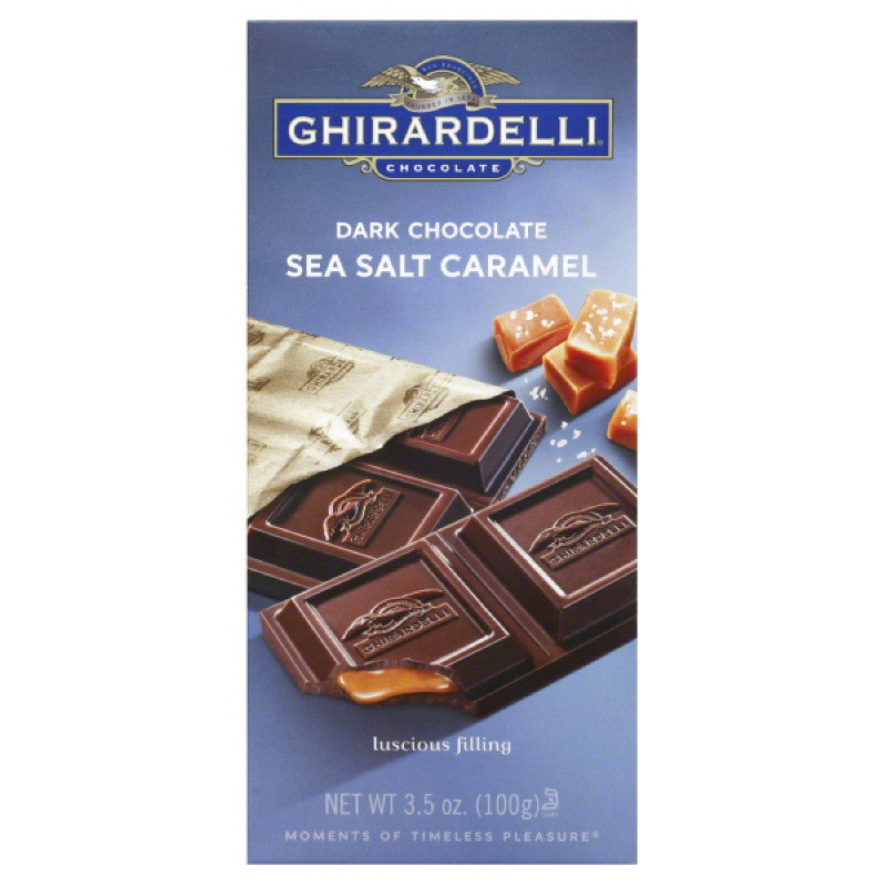 Ghirardelli Sea Salt Caramel Dark Chocolate, 3.5 Oz (Pack of 12)