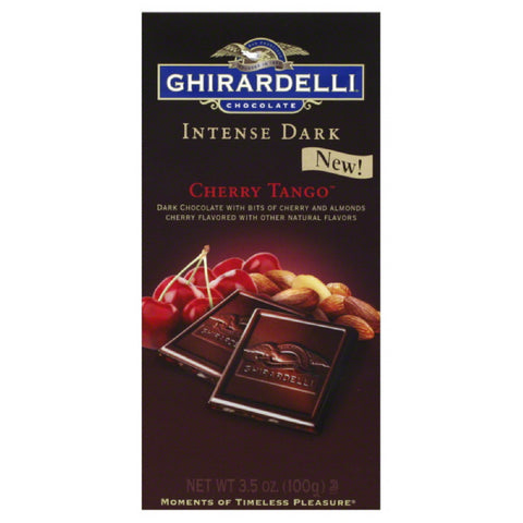 Ghirardelli Cherry Tango Dark Chocolate, 3.5 Oz (Pack of 12)