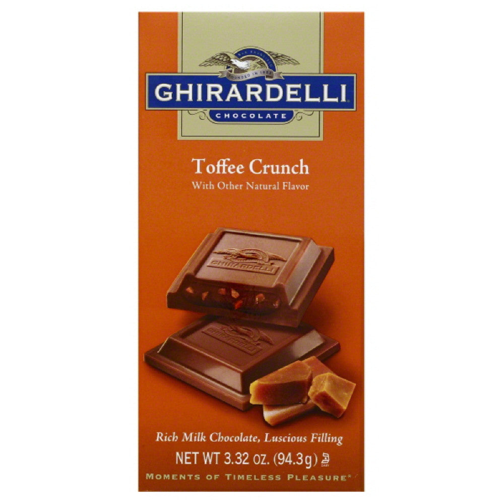 Ghirardelli Toffee Crunch Milk Chocolate, 3.32 Oz (Pack of 12)