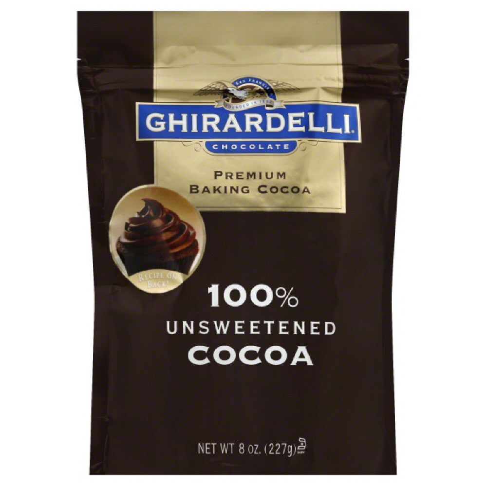 Ghirardelli 100% Unsweetened Premium Baking Cocoa, 8 Oz (Pack of 6)