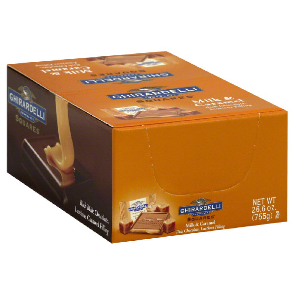 Ghirardelli Milk & Caramel Chocolate Squares, 50 Pc