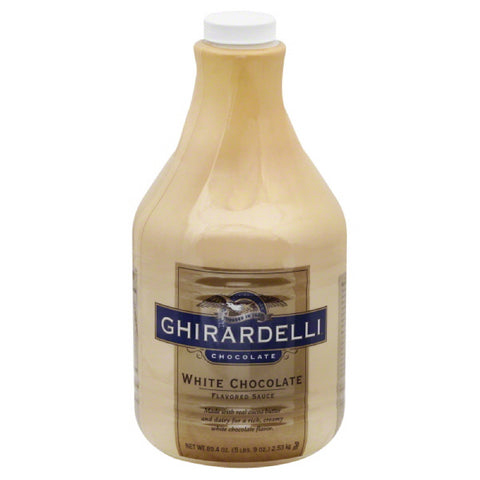 Ghirardelli Sauce White Chocolate Flavored, 89.4 Fo (Pack of 6)