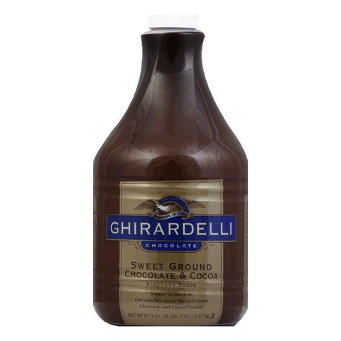 Ghirardelli Sweet Ground Chocolate Syrup, 87.3 FO (Pack of 6)