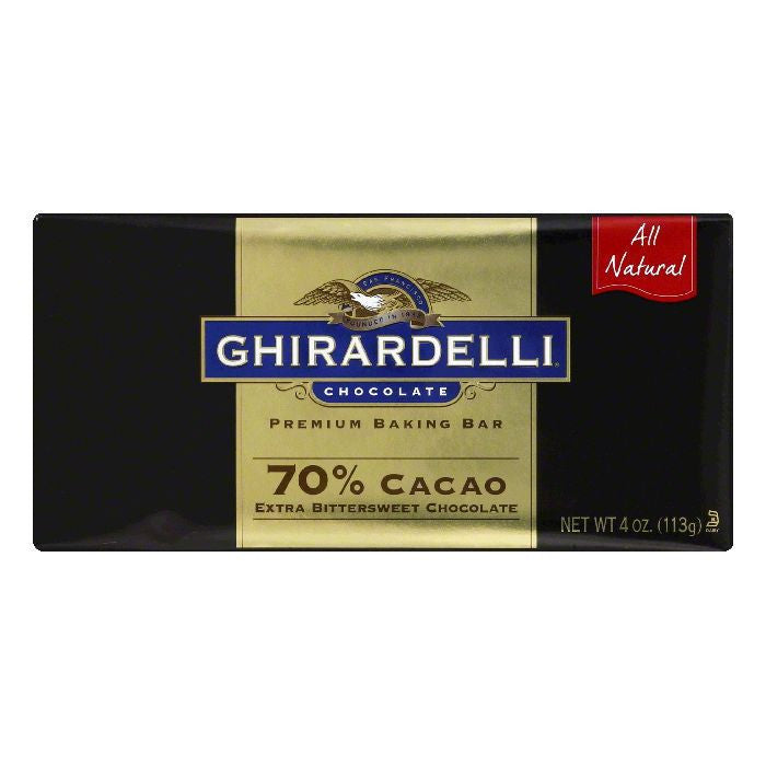 Ghirardelli Bar Extra Bittersweet 70% Cocoa, 4 OZ (Pack of 12)