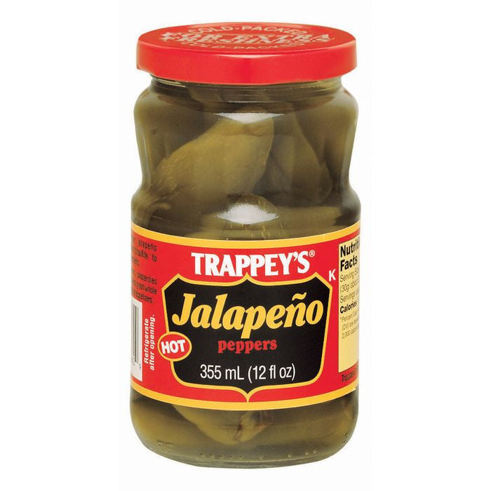 Trappey's Hot Jalapeno Peppers 12 Oz  (Pack of 6)