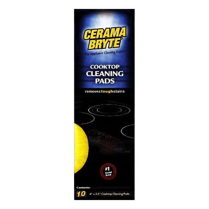 Cerama Cleaning Pads for Cooktops, 10 CT (Pack of 6)