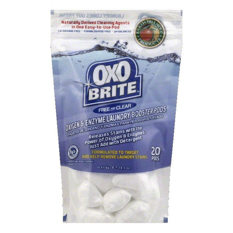 Earth Friendly Free and Clear HE Oxygen & Enzyme Laundry Booster Pods, 14.5 Oz (Pack of 6)