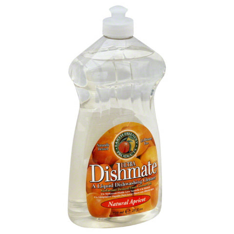 Earth Friendly Natural Apricot Liquid Dishwashing Cleaner, 25 Oz (Pack of 6)