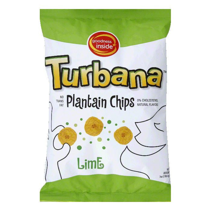 Turbana Lime Plantain Chip, 7 OZ (Pack of 12)