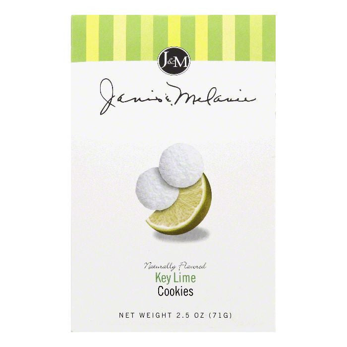 Janis & Melanie Key Lime Cookies, 2.5 OZ (Pack of 12)