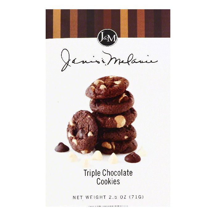 Janis & Melanie Triple Chocolate Cookies, 2.5 OZ (Pack of 12)